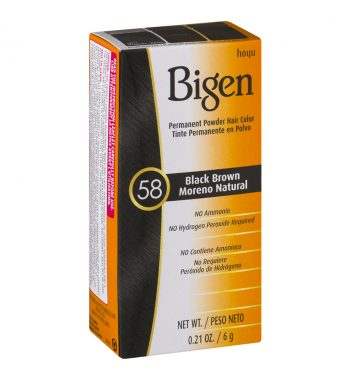 Bigen Permanent Powder Hair Color 58 Black brown