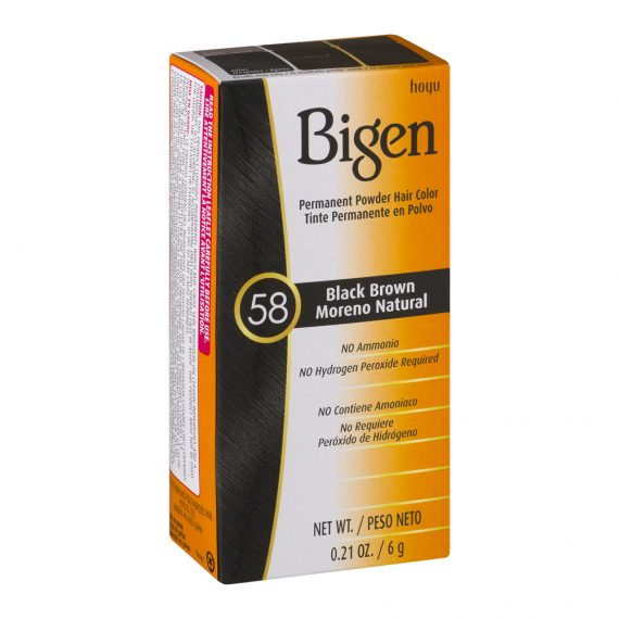 Bigen Permanent Powder Hair Color 58 Black brown
