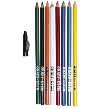 GraffEtch Colored Pencils 8 set