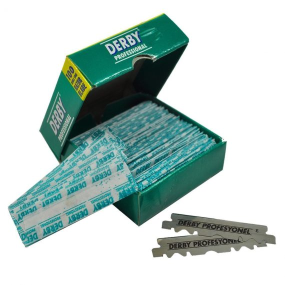 Derby Professional Single Edge Razor Blades 100ct - PRE CUT