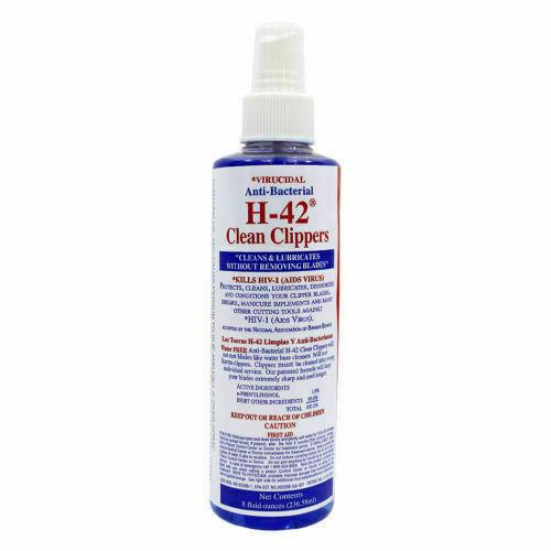 H-42 Clean Clippers Virucidal Anti-Bacterial Cleaner Spray 8oz