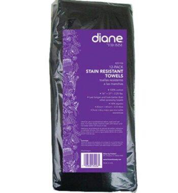 Diane Stain Resistant Black Towels 12 Pack