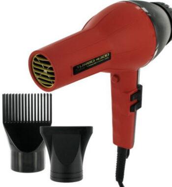 Allure Turbo 4300 Tourmaline Ceramic ionic Black Red Hair Blow Dryer