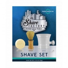 The Shave Factory Shaving set - soap, brush, & mug