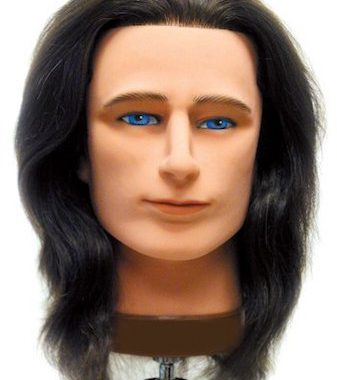 "Celebrity Mr. Sam 19"" Male Mannequin Human Hair Brown"