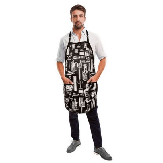 Betty Dain Vintage Barber Apron Black