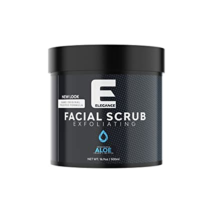 Elegance facial scrub with aloe vera