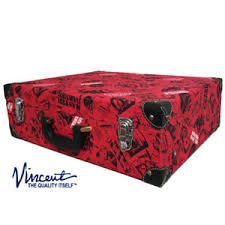 "Vincent Master travel barber Case ""vintage red"""