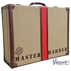 "Vincent Master travel barber Case ""desert"""