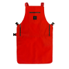 Knife & Flag Non-Porous Barber apron Red