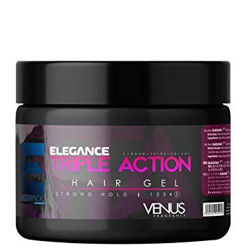 elgance triple action hair gel venus
