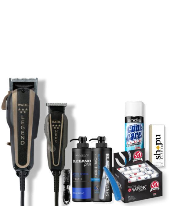 Barber Starter Kit - Wahl legend & Hero combo plus Barber essentials