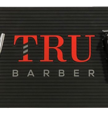 TruBarber black/red station mat