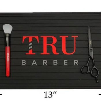 TruBarber mini barber station Mat 14''x9'' - mulitple colors
