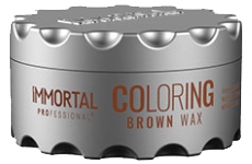 Immortal professional coloring hair wax brown