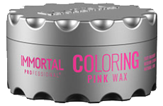 Immortal professional hair coloring wax pink