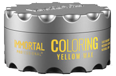 Immortal professional coloring hair wax yellow