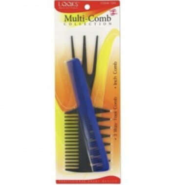 looks 3 way comb with free taper comb