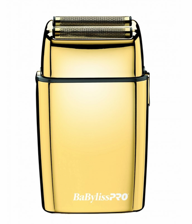 BaBylissPro Cordless Metal Double Foil Gold Shaver FXFS2G