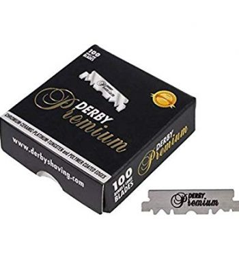 Derby Premium Single Edge Razor Blades 100 CT - PRE CUT