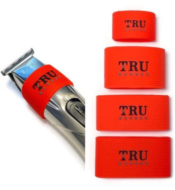 TRUBARBER Clipper Grip Bands red 4pcs