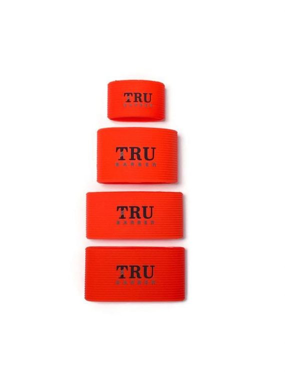 TRUBARBER Clipper Grip Bands red 4pcs