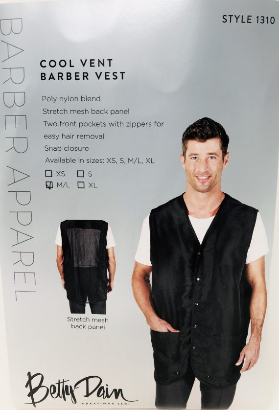 Betty Dain Cool Barber Vest Black