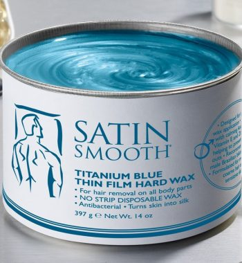 Satin Smooth Titanium Blue Thin Film Hard Wax