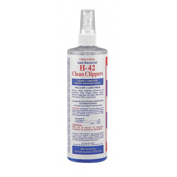 H-42 Clean Clippers Virucidal Anti-Bacterial Cleaner Spray 16oz