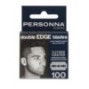 Personna X-Series Platinum Coated Double Edge Razor Blades 100 Pack