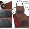 BarberGeeks Luxury style barber apron – brown & cogniac