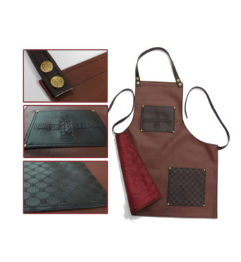 barbergeeks brown luxury barber apron