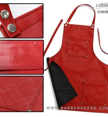 BarberGeeks luxury life barber apron - red