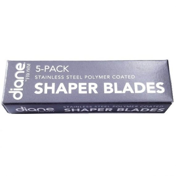 Diane Stainless Steel Polymer Coated Shaper Blades 5 Pack