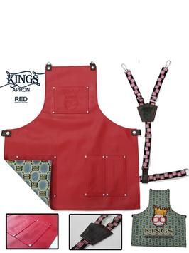 BarberGeeks Xl King's Apron With Y-Strap - red