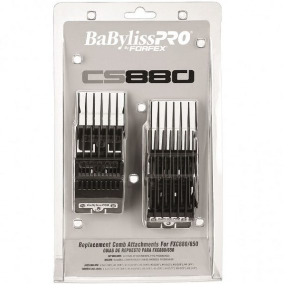 BaBylissPro By Forfex Attachment Combs - guards 8 Pack CS880