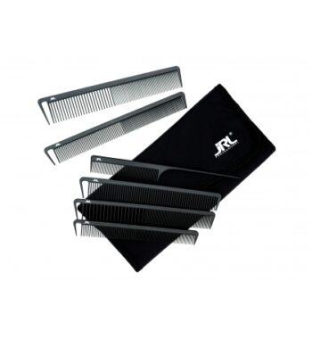 JRL Professional Anti-Static Carbon Combs 6-piece Set