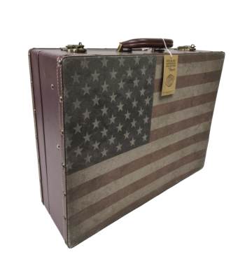 "Vincent Master travel barber Case ""american flag"""