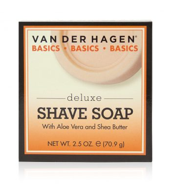 van der hagen deluxe shave soap with aloe vera and shea butter 2.5 oz