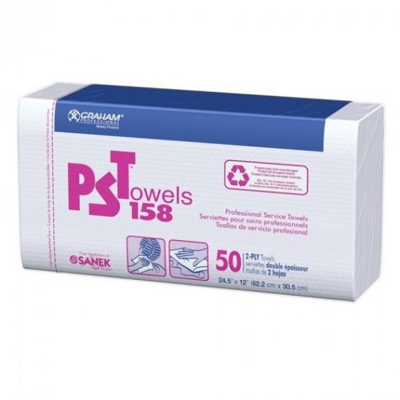 Graham PST Towels 158 white - 50 2 Ply Towels #16159