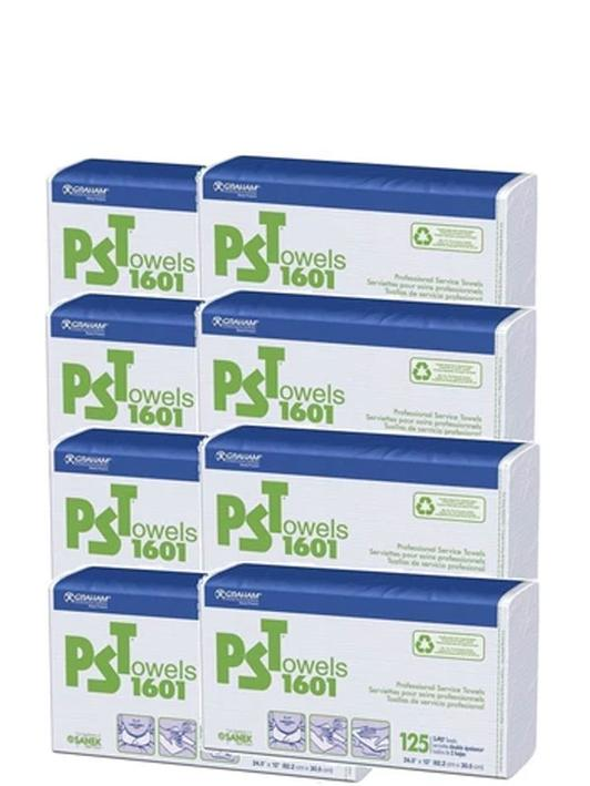 Graham PST Towels 1601 white smooth finish- 1000 2 Ply Towels 8 pack #16161