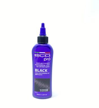 eco style semi permanent hair dye black
