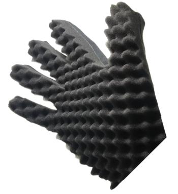 curl sponge glove