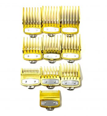Gold Clipper guard set fits wahl and babyliss (1-8, 0.5, 1.5)