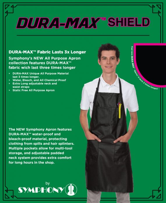 symphony dura max unisex black apron