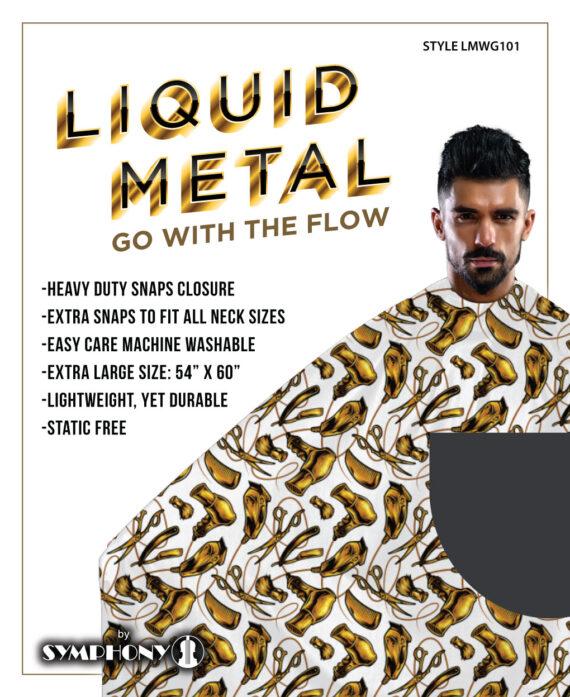 symphony liquid metal white cape.