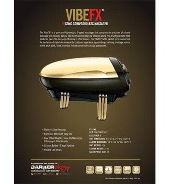 BabylissPro VIBEFX Gold Profesional Cordless Massager