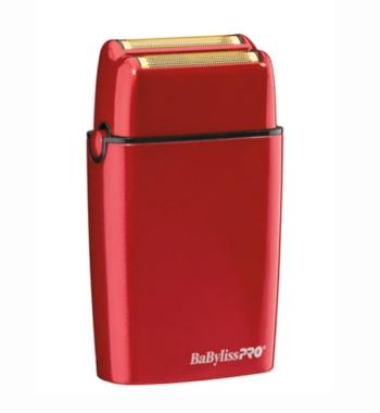 BaBylissPro Cordless Metal Double Foil Shaver RED FoilFx02 FXFS2R