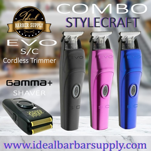 StyleCraft EVO Trimmer and Gamma absolute Zero shaver combo