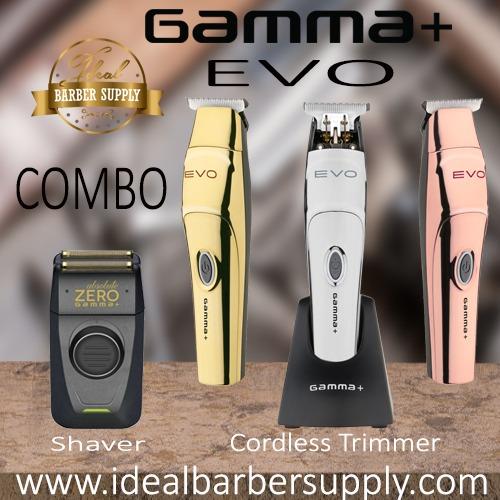 Gamma+ EVO Trimmer and Gamma absolute Zero shaver combo
